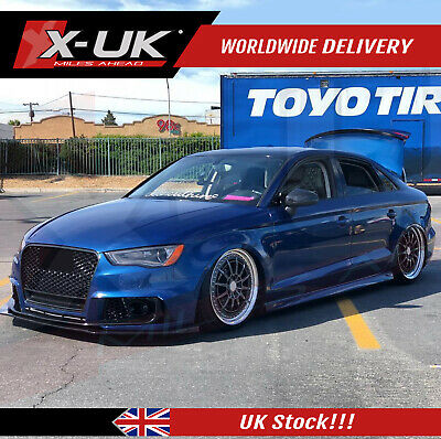 RS3 style front bumper upgrade without grill for Audi A3/S3/RS3 8V 12-15 Saloon