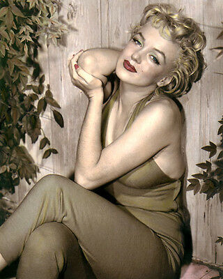 """MARILYN MONROE HOLLYWOOD LEGEND ACTRESS MOVIE STAR 8x10"""" HAND COLOR TINTED PHOTO"""