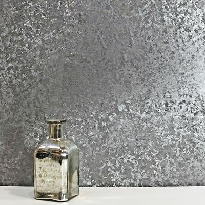 Crushed Velvet Foil Wallpaper Gunmetal Arthouse 294305 Feature Wall Decor New