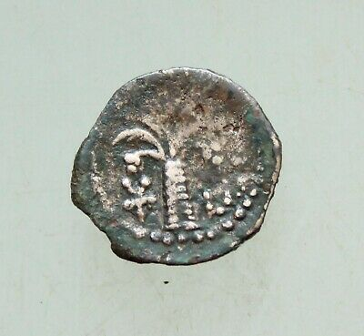 Judaea, Herodian Kingdom. AE 13mm Palm Buste ? Uncertain Rare