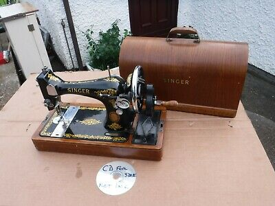 Tidy Vintage Singer Cased Sewing Machine.  Ej460819