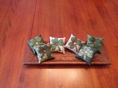 Country/Primitive/Farmhouse-Country Shamrock/Clover Bowl Filler-Set Of 6