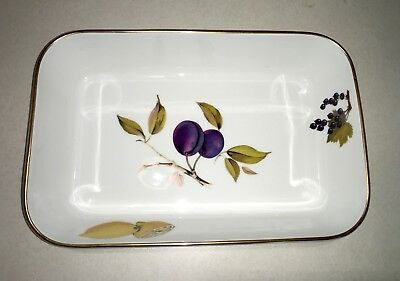 "Royal Worcester Evesham Gold 10 3/8"" Rectangular Baker Oven to Table Ware EUC"