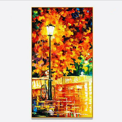 VV378 Large Home Decor art Abstract oil painting 100% Hand-painted Streetscape