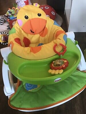 Fisher Price Sit Me Up Giraffe Floor Seat With Tray - VGC