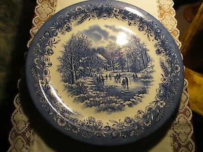 "Churchill Currier & Ives, Early Winter 13"" plate"