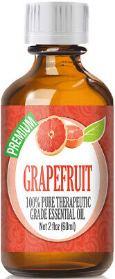 Grapefruit Essential Oil (100% Pure & Natural) Glass Bottle + Euro Dropper