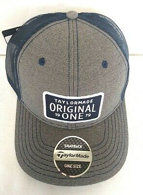 dc6c1d9b0c8 TaylorMade Lifestyle Original One Trucker Golf Hat NEW 2019 Adjustable Navy