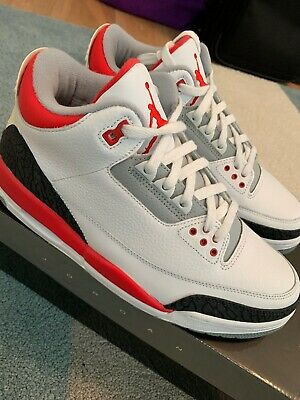 online retailer ec985 2ff4b Nike Air Jordan III 3 Retro Fire White Red Cement Grey sz 9.5 DS 2007 136064