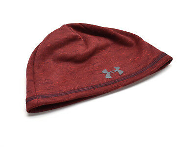 Under Armour Men s UA ColdGear Reactor Beanie Knit Hat Fleece Lined Red New  NWT a8c4f29cc058