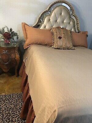 New 7 Piece Queen Size Bedding Set Bella Rose Neiman Marcus Horchow On Sale 375 375 00 Picclick