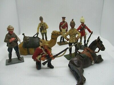 Very Nice Mixed Lot Of Solid Metal Soldiers,job Lot Various Makes
