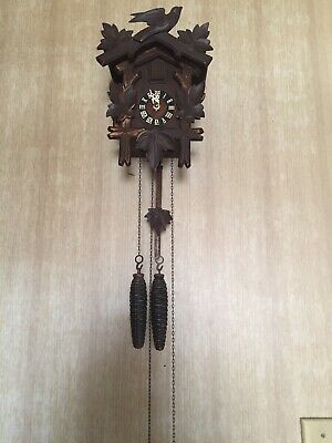 Antique Vintage Black Forest German Cuckoo Clock GERMAN MADE 1 Day Restored