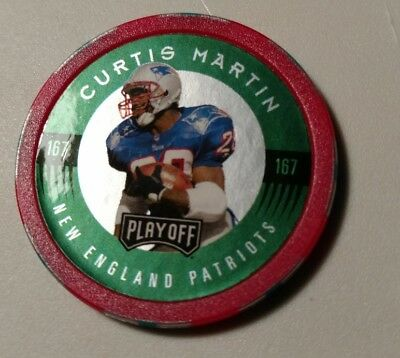 Collectible NFL Football Poker Chip Shot Curtis Martin #167 New England Patriots
