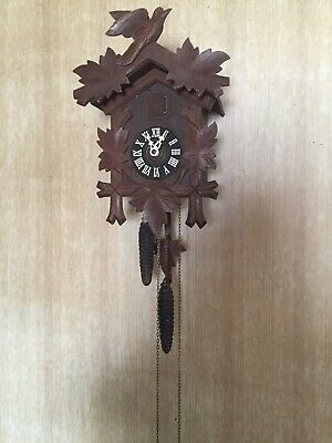 Antique Vintage Black Forest German Cuckoo Clock GERMAN MADE Restored Look 👀!!!