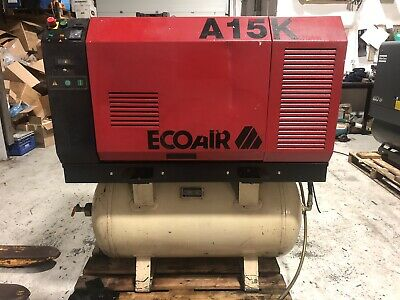 Ecoair A15K 11kw Air Compressor Screw Compressor Dryer 10 Bar 52 CFM Receiver