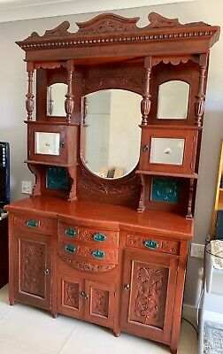 Antique Wall Unit / Sideboard