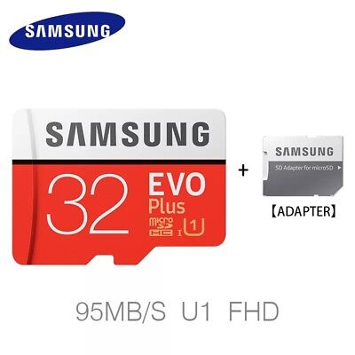Samsung 32GB Micro SD Card SDHC EVO+ 95MB/s UHS-I Class 10 TF with FREE Adapter