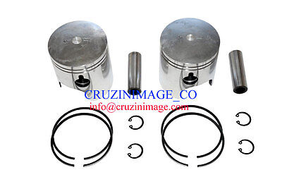 Suzuki T500 GT500 Pistons Set 70.5mm 0.5mm Oversize Rings Pin Clips  10-T500PS-1