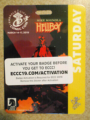 ECCC 2019 Emerald City Comicon Saturday 3/16 Adult Badge Ticket Pass - SOLD OUT!