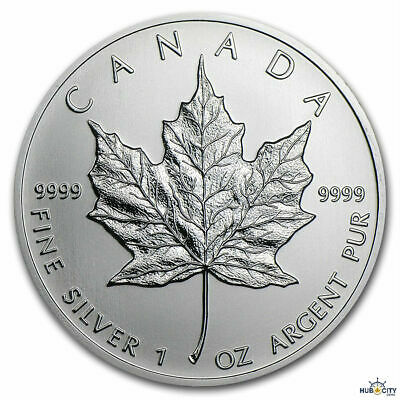 2011 1oz Canadian Maple Leaf $5 BU .9999 Fine Silver Coin