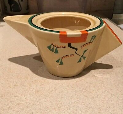 Clarice Cliff Ravel Conical Teapot - No Lid