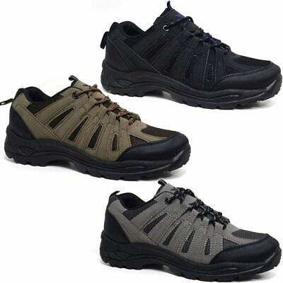 Mens Hiking Boots New Walking Ankle Lace Up Trail Trekking Trainers Shoes Size