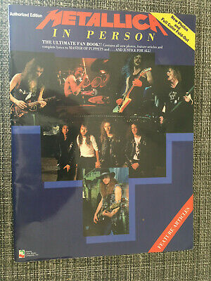 Metallica In Person The Ultimate Fan Book Collectible 1990