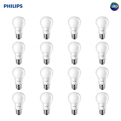 Philips LED Non-Dimmable A19 Frosted Light Bulb: 800-Lumen, 2700-Kelvin, 60-Watt