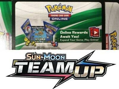 (SENT VIA EMAIL) 50x Sun And Moon Team Up Pokemon TCGO Online Codes Cards