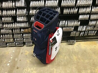 8ebffdf278fc NEW Under Armour STORM ARMADA Red White Blue CART BAG 14-WAY Sun Mountain  USA
