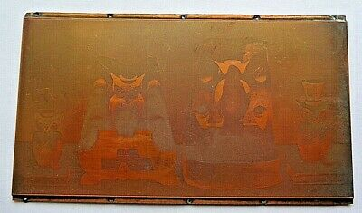 Western Stoneware Monmouth .  - Printing Plate . Owl Book Ends . 1927 Catalog