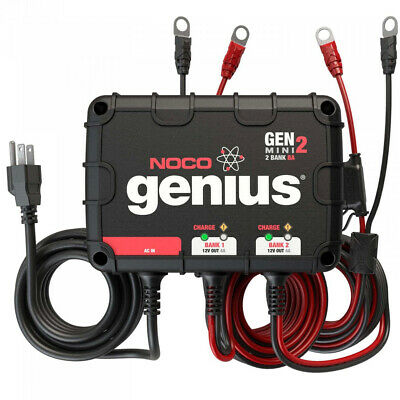 Noco GENM2 2-Bank 8-Amp Waterproof On-Board Marine Battery Charger