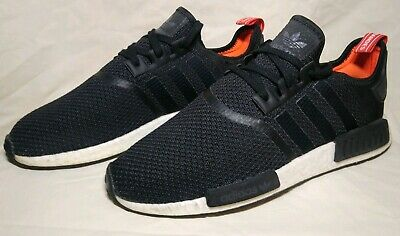 560531a2c Adidas NMD R1 Nomad Boost Core Black Wht Red Orange Running Men s B37621  Size 11