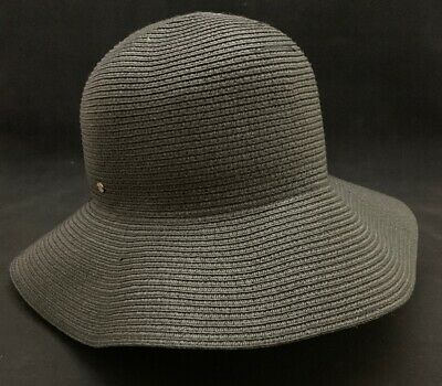1ebf6bd5454 Betmar Women s Gossamer Braided Black One Size Sun Hat Wide Brim Packable