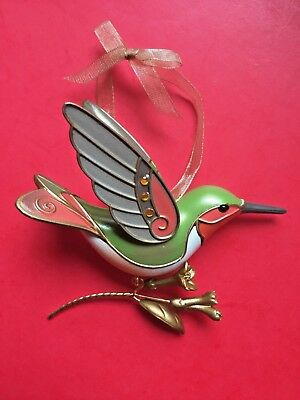 Hallmark 2018 Hummingbird Surprise Gold Mystery Ornament