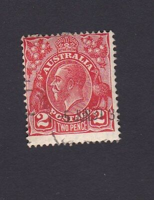 Australia 1930 2d RED DIE III KGV Small multi wmk 13.5 x 12.5 - 5 JUNE 1931 CTO