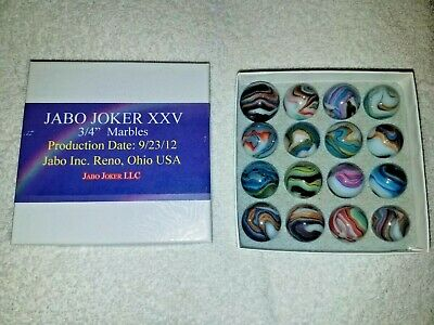 Box Of Jabo Joker XXV # 2. Marbles Came In The Box This Way.* 7/16th's -13/16ths