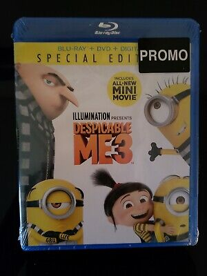 DESPICABLE ME 3 - Blu-Ray + Dvd. Brand New. Still rapped. Free Shipping
