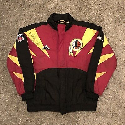 d5f5a3099 Vintage Washington Redskins Apex Jacket 90s Rare NFL Autographed - Mens M