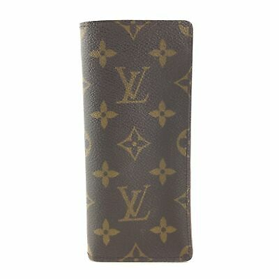 Auth LOUIS VUITTON Monogram Etui Lunette Simple M62962 Glass Case