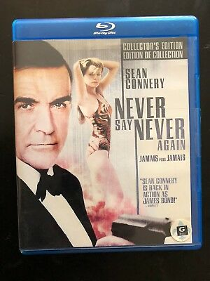 Never Say Never Again Blu Ray collectors edition, NEW PRICE