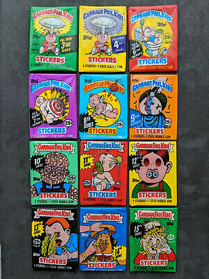 Garbage Pail Kids-WAX PACK LOT Original Series-SEALED-Vintage-1986-1988-Topps