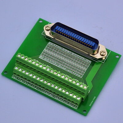 "36-Pin 0.085"" Centronics Vertical Male Ribbon Connector Breakout Board."