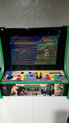 TMNT Teenage Muntant Ninja Turtles Bar Top Multi Classic Arcade Game X-Men