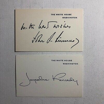 President Kennedy and Jacqueline Kennedy Signature Cards