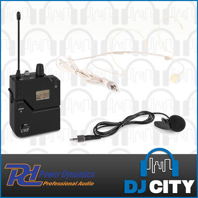 Wireless Bodypack Microphone for PD632 Systems w/ Lapel + Beige Headset Mic