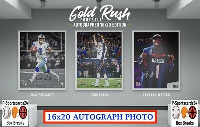 2018 Gold Rush Football Autographed 16x20 Photo NFL NCAA Live Box Break #1738