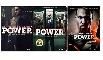 Power The Complete All 1-3 Seasons DVD Set TV Series DVD Set Collection Episodes