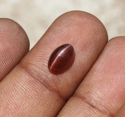 1.80Ct Natural spectrolite cat's eye brown red marquise cabochon loose gemstones